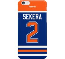 Edmonton Oilers Andrej Sekera Jersey Back Phone Case iPhone Case/Skin