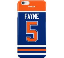Edmonton Oilers Mark Fayne Jersey Back Phone Case iPhone Case/Skin