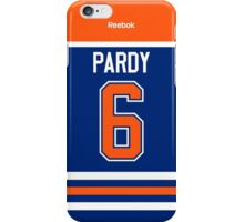 Edmonton Oilers Adam Pardy Jersey Back Phone Case iPhone Case/Skin