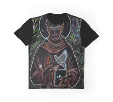 """Modern Monk: """"St. Francis of Assisi"""" Graphic T-Shirt"""