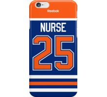 Edmonton Oilers Darnell Nurse Jersey Back Phone Case iPhone Case/Skin