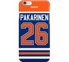 Edmonton Oilers Iiro Pakarinen Jersey Back Phone Case iPhone Case/Skin