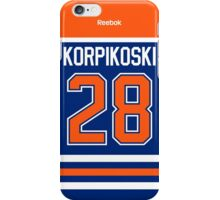Edmonton Oilers Lauri Korpikoski Jersey Back Phone Case iPhone Case/Skin