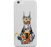 Hipster dog Doberman Pinscher iPhone Case/Skin