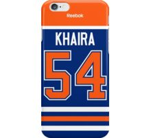 Edmonton Oilers Jujhar Khaira Jersey Back Phone Case iPhone Case/Skin