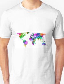 VIBRANT MAP of the WORLD Unisex T-Shirt