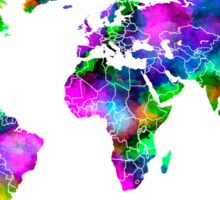 VIBRANT MAP of the WORLD Sticker