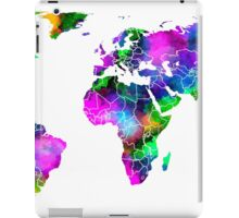 VIBRANT MAP of the WORLD iPad Case/Skin