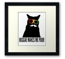 Reggae Cat. Framed Print