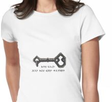 Not All Who Wonder Are Lost Key Drawing Womens Fitted T-Shirt