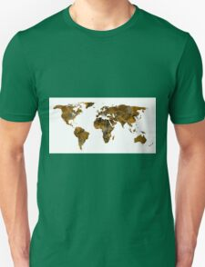 MAP of the WORLD SEPIA TONED Unisex T-Shirt