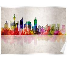 SIDNEY AUSTRALIA SKYLINE Poster