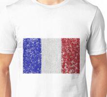 French Flag Splat Painting Unisex T-Shirt