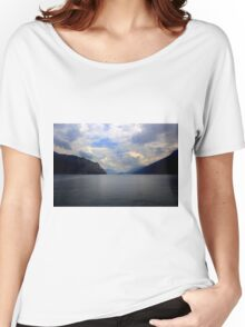 A cloudy day at Garda Lake Women's Relaxed Fit T-Shirt