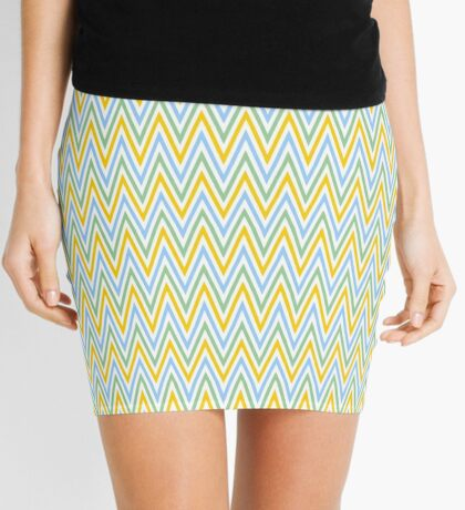 Colorful Chevron Pattern - Seamless Pattern, Easter Colors,  Mini Skirt
