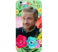 Floral Martin Freeman iPhone Case/Skin
