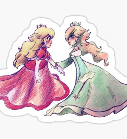 Peach and Rosalina Sticker