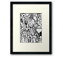 Ink on Ink on Ink Framed Print