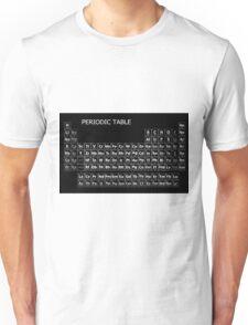 PERIODIC TABLE on BLACK MIRROR Unisex T-Shirt