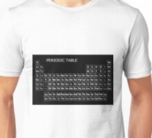PERIODIC TABLE on BLACK MIRROR Unisex T-Shirt