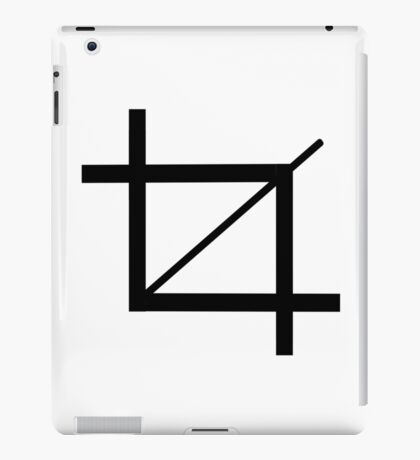"""crop"" typography iPad Case/Skin"