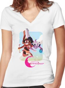 The Myth of Cinnabar - Free Falling Women's Fitted V-Neck T-Shirt