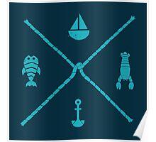 Sub-aquatic Compass Poster