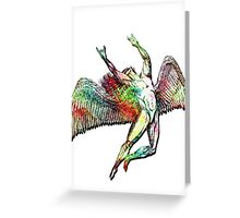 ICARUS THROWS THE HORNS - ACID TRIP Greeting Card