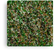 Army Camouflage Splat Painting Canvas Print