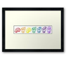 Namaste Sign Language Framed Print