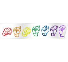 Namaste Sign Language Poster
