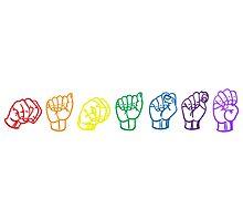 Namaste Sign Language Photographic Print