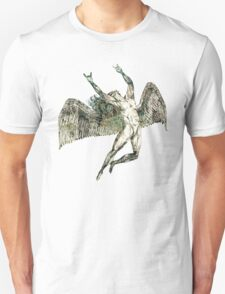 ICARUS THROWS THE HORNS - antique grunge T-Shirt