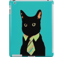 business executive cat iPad Case/Skin