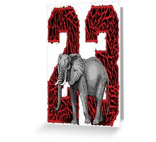 Elephant Skin 23 Greeting Card
