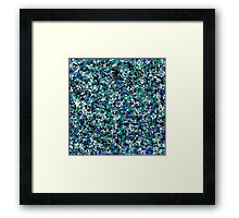Blue Army Splat Painting Framed Print