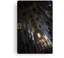 The Fascinating Interior of Sagrada Família - Antoni Gaudi's Masterpiece Canvas Print