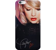 taylor in black signature  iPhone Case/Skin