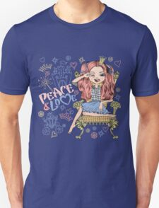 Fashionable girl princess  Unisex T-Shirt
