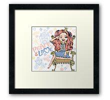 Fashionable girl princess  Framed Print