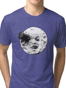 A Trip to the Moon (Le Voyage Dans La Lune) - face only Tri-blend T-Shirt