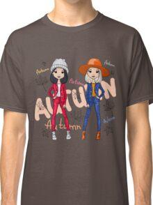 Beautiful fashion hipster girls Classic T-Shirt