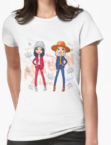 Beautiful fashion hipster girls Womens Fitted T-Shirt