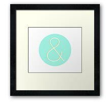 Ampersand in Helvetica Neue Framed Print