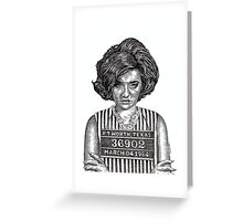 Big Hair Texas Trouble Greeting Card