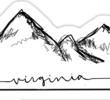Virginia Mountains Sticker Sticker