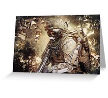Apocalyptic Gaming Soldier Greeting Card