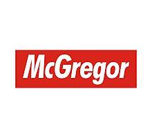conor mcgregor x Supreme Photographic Print