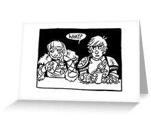 Honey and the Hatchet Greeting Card