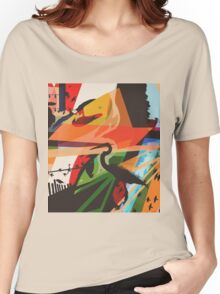For The Birds Skate Deck Design Women's Relaxed Fit T-Shirt